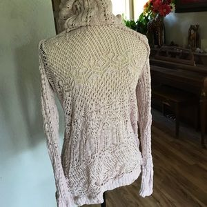 Mossimo Supply Co. Sweaters - Light Pink Lace Cardigan